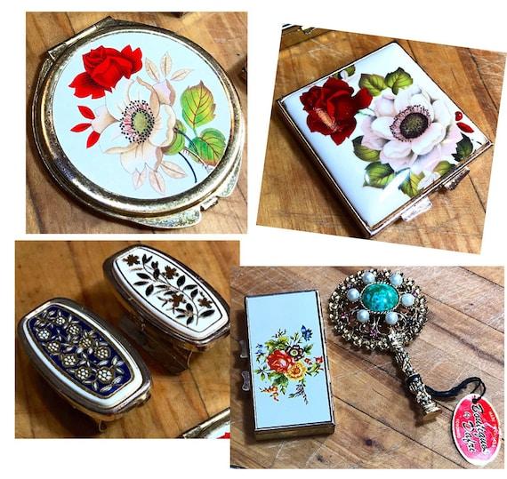 Lipstick Holder Vintage Compact Snuff Box Compact
