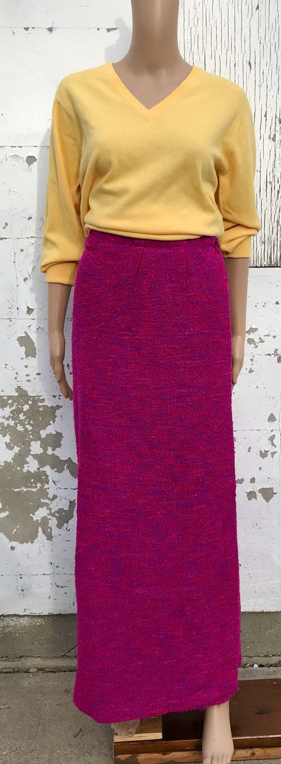 Wool Skirt Wool Maxi Skirt Wrap Skirt Pink Skirt W