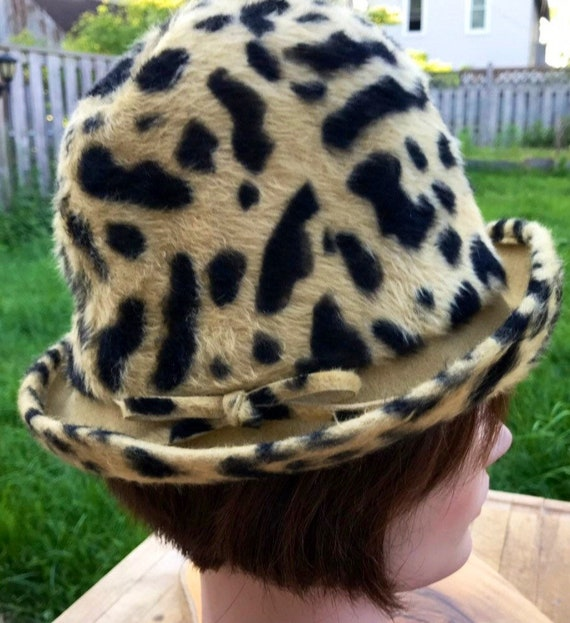 Hat Leopard Hat Womens Hat Leopard Fur Faux Fur Ha