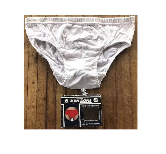Briefs Men's Underwear Bikini Brief White Cotton U