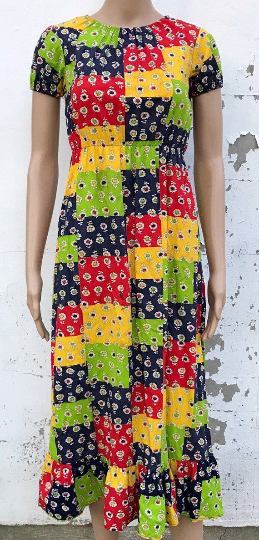 Patchwork Dress Peasant Dress Gunne Sax Dress Prai