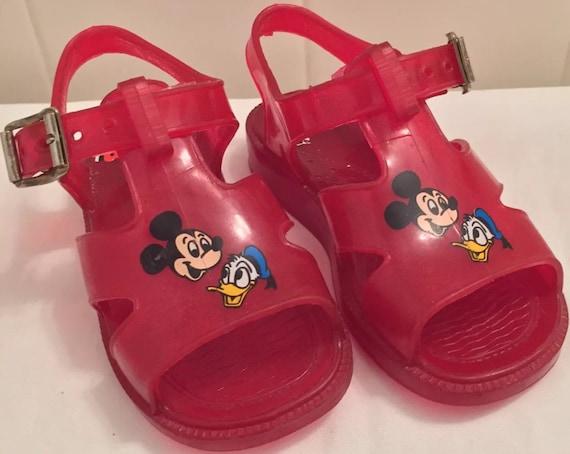 Sandal Walt Duck Shoe Mickey Jelly Mouse 5 Red Disney Sandals Donald Children's Size Kids Shoes 0nwOkX8P