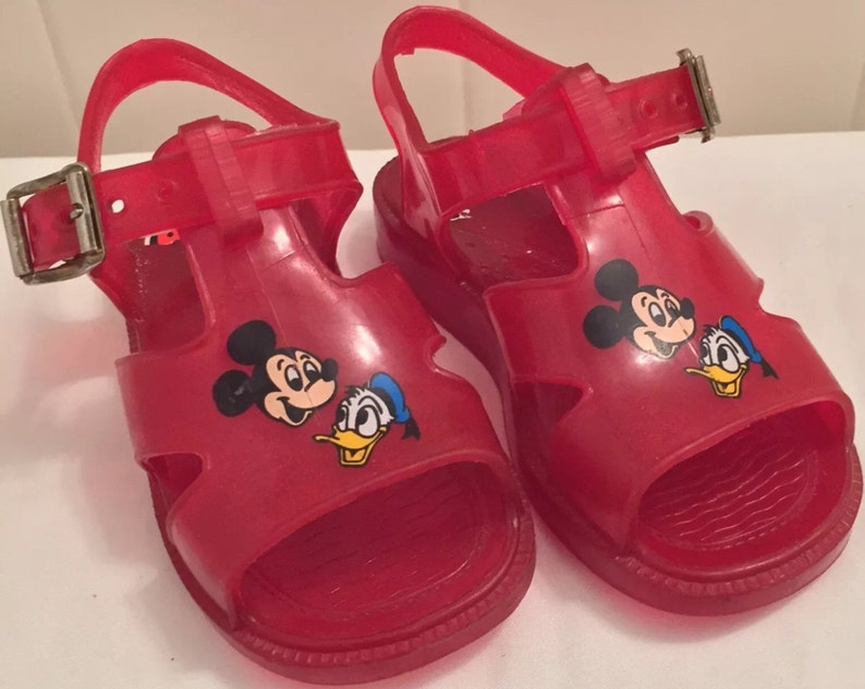 18c5496ca5c8 Disney Jelly Shoes   Mickey Mouse   Donals Duck   Childrens