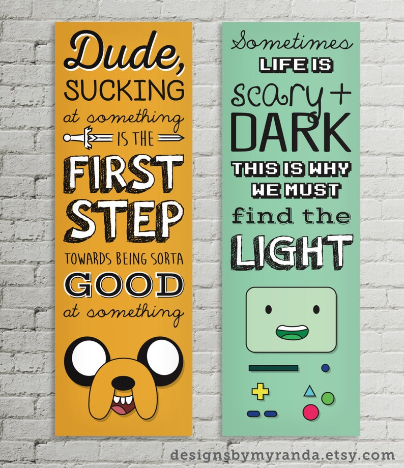 Adventure Time Quote Posters Jake & BMO image 0