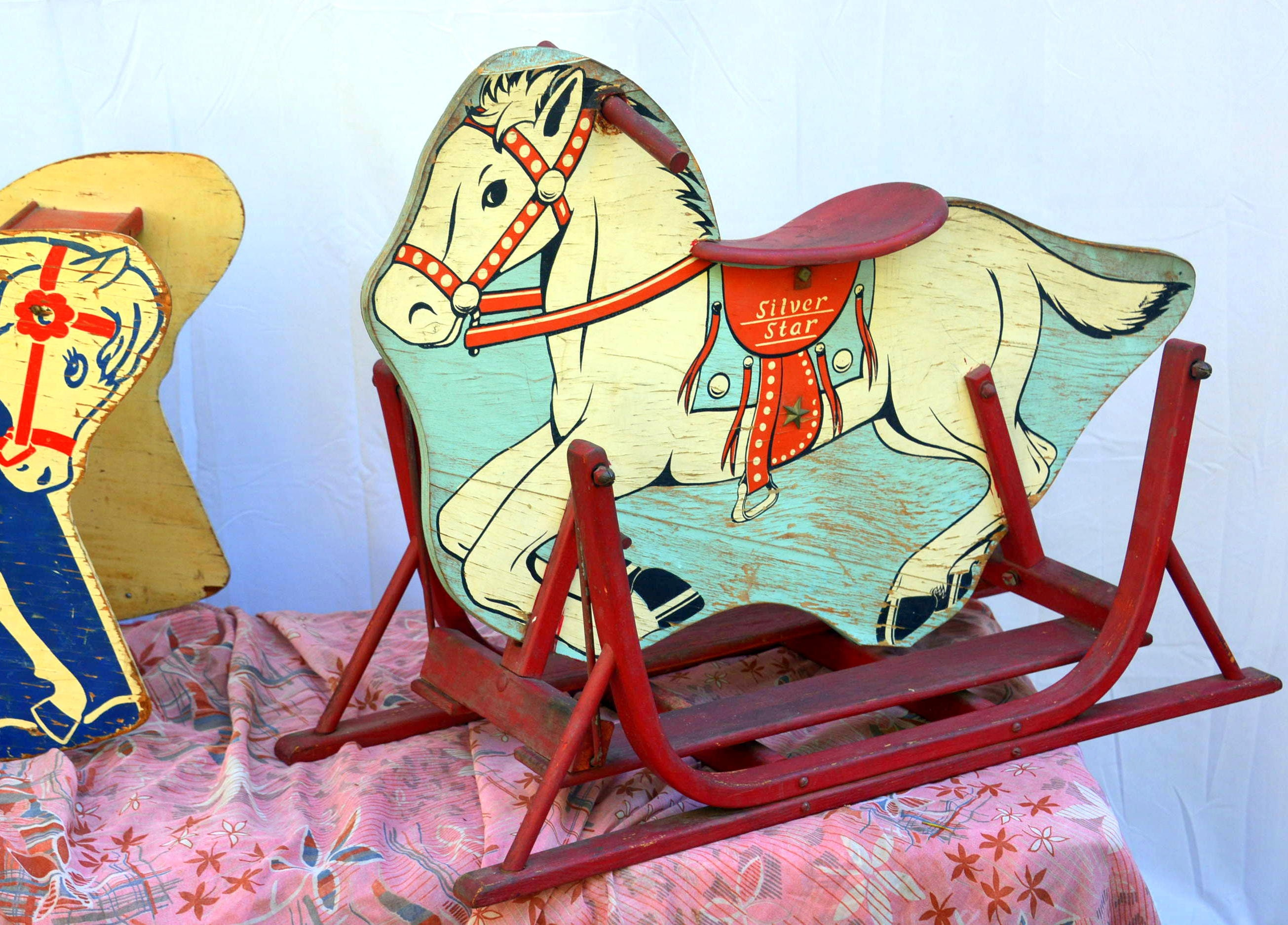 Surprising Antique Wooden Horse Glide Rocker Rocking Chair Rustic Pdpeps Interior Chair Design Pdpepsorg