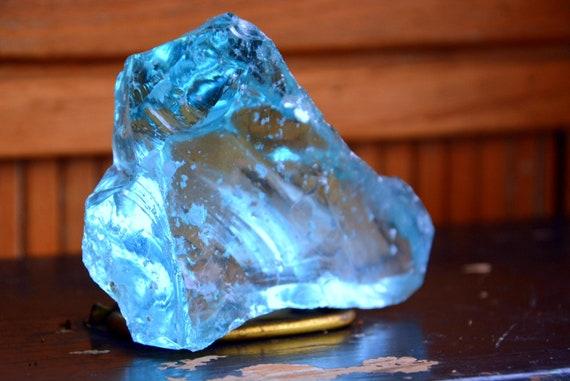 Blue Cullet Slag Glass, Blue Slag Glass Chunks