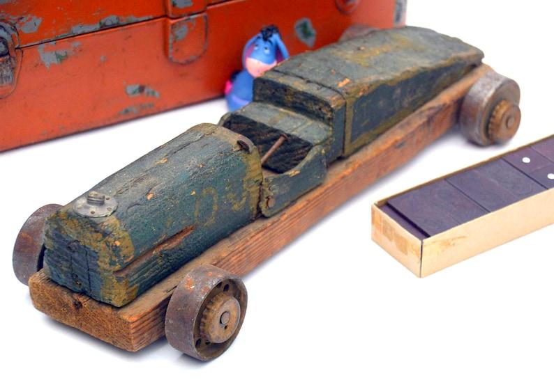 Lawn Ornaments Or Automotive Outsider >> Antique Soapbox Derby Car Folk Art Rustic Homemade Green Etsy