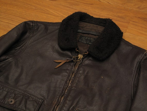 vintage 1972 USN G1 leather flight jacket - image 3