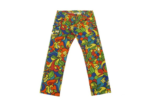 HAND MADE hippie print cargo pants