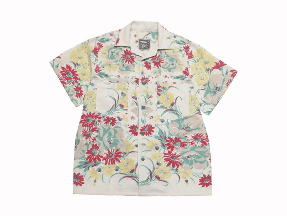 floral table cloth camp shirt