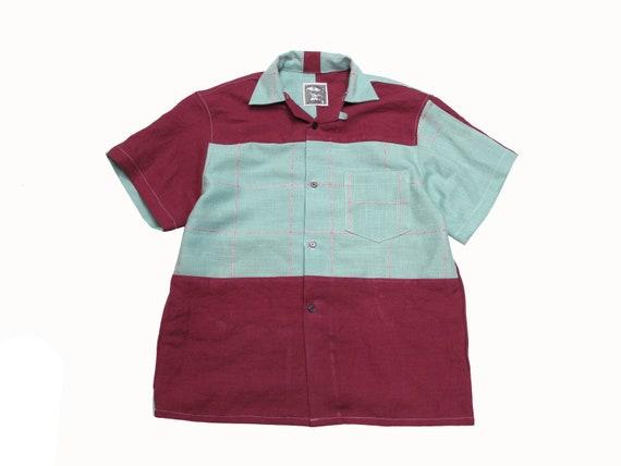 linen table cloth loop collar shirt