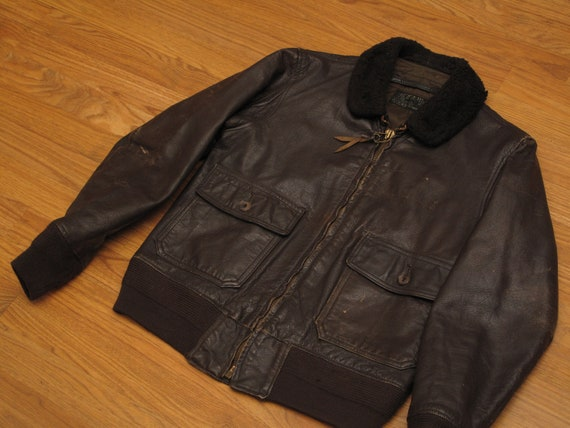 vintage 1972 USN G1 leather flight jacket - image 2