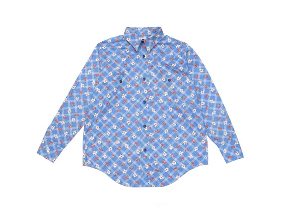 HAND MADE floral work shirt