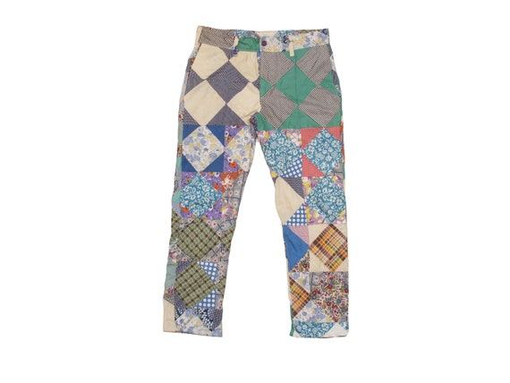 HAND MADE quilt top trousers