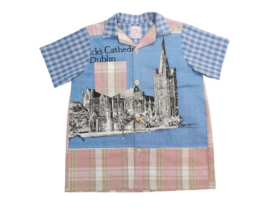 HAND MADE St. Patrick's Cathedral linen camp shirt