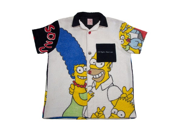 HAND MADE the Simpsons beach shirt