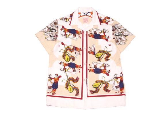 HAND MADE table cloth camp shirt