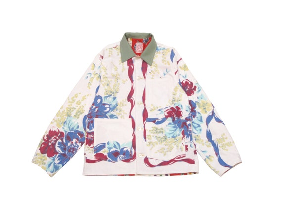 HAND MADE floral chore jacket