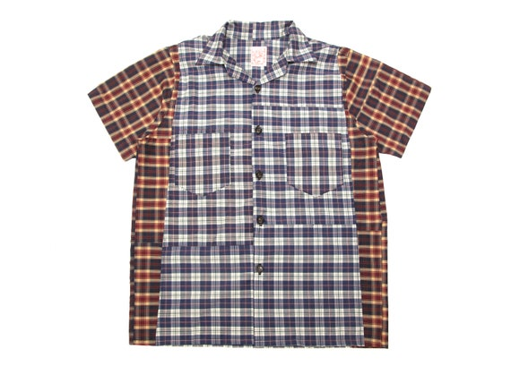 HAND MADE flip flop tartan camp shirt
