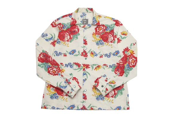 floral table cloth shirt