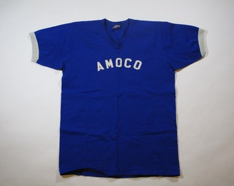 vintage russell athletic Amoco baseball jersey