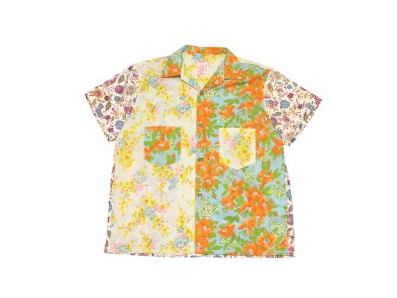 HAND MADE floral camp shirt