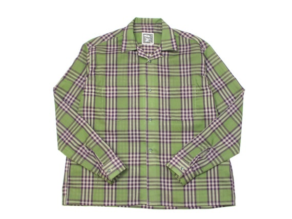 HAND MADE plaid lounge shirt