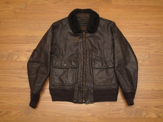 vintage 1972 USN G1 leather flight jacket - image 1