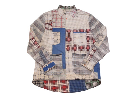 HAND MADE inside out flannel hunting shirt