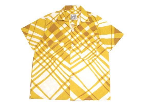 HAND MADE plaid camp shirt