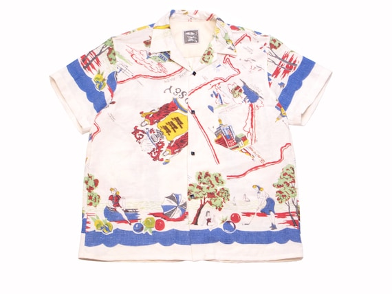 HAND MADE New Jersey aloha shirt