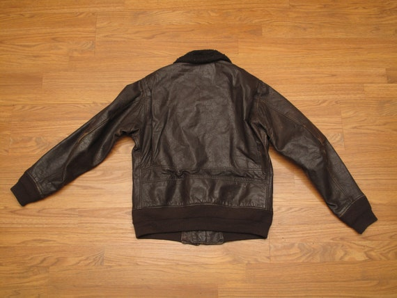 vintage 1972 USN G1 leather flight jacket - image 6