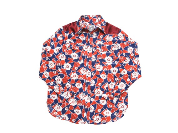 red white and blue western shirt
