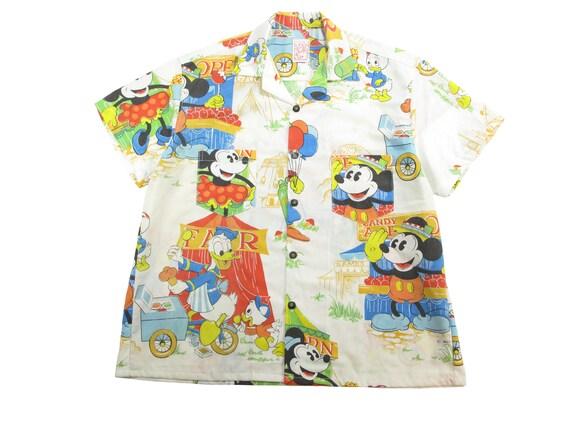 HAND MADE Disney carnival aloha shirt