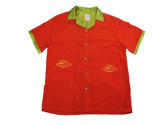 HAND MADE rayon dragon shirt