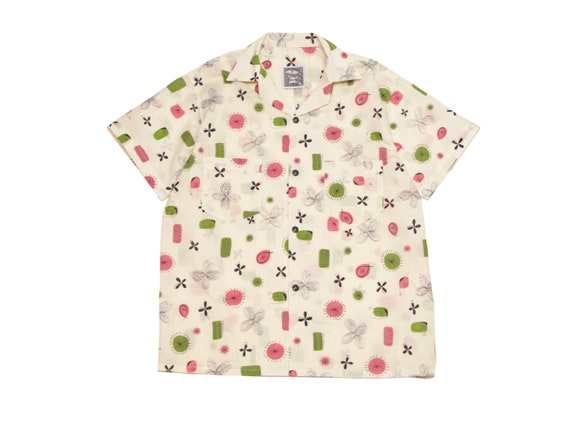 HAND MADE atomic pattern camp shirt