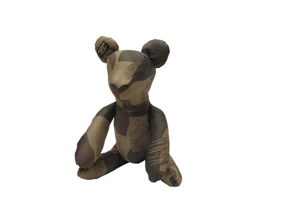 HAND MADE camouflage teddy bear