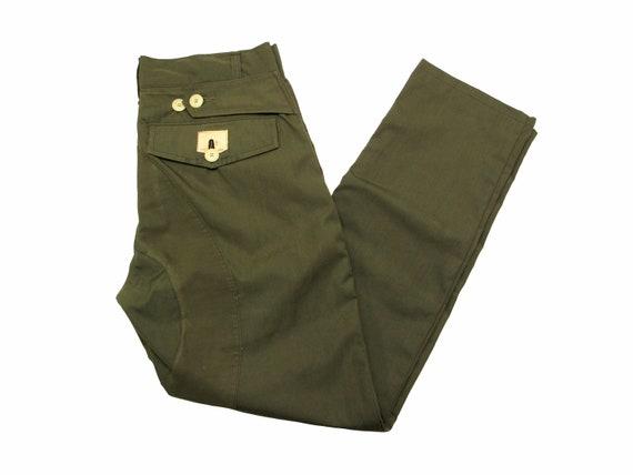 HAND MADE poplin raincoat trousers