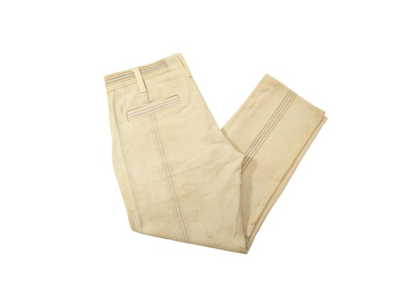 HAND MADE cotton feed sack trousers