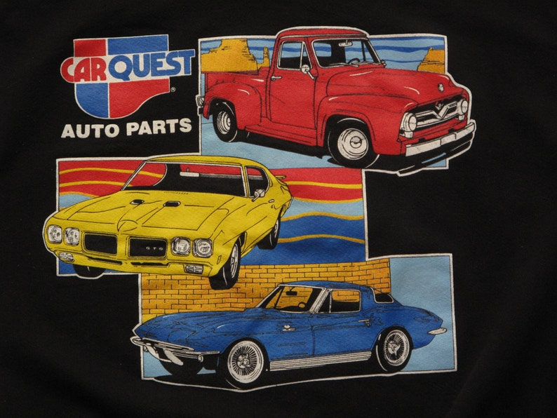 Quest Auto Parts >> Vintage Car Quest Auto Parts Crew Neck Sweatshirt