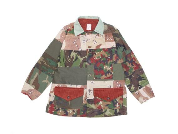 HAND MADE camouflage rainbow lake jacket