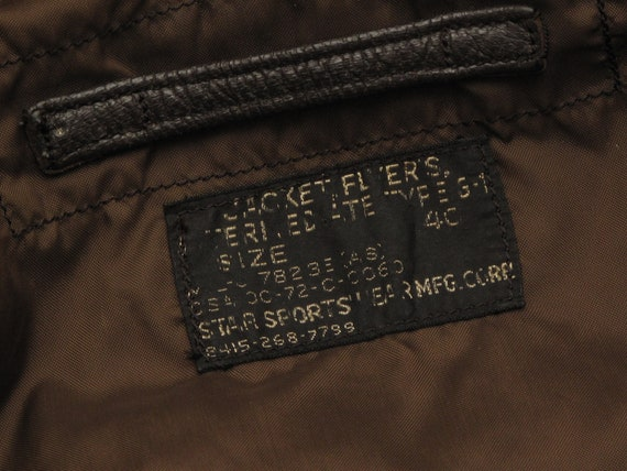 vintage 1972 USN G1 leather flight jacket - image 5