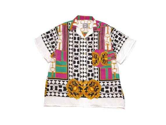 HAND MADE bootleg luxury print resort shirt