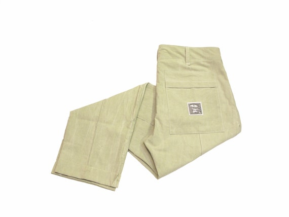 HAND MADE drop cloth utility trousers