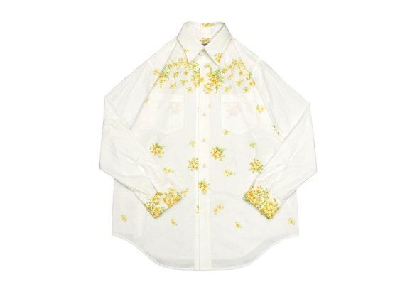 HAND MADE floral work shirt