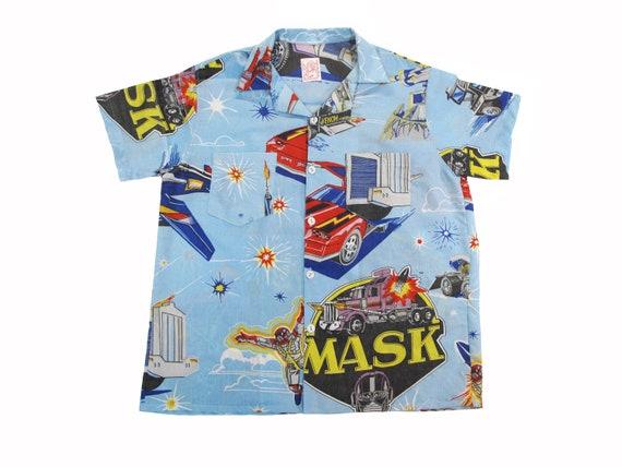 HAND MADE Mobile Armored Strike Kommand cartoon aloha shirt