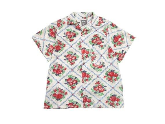 fruit and floral camp shirt