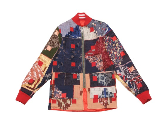 HAND MADE womens reversible quilt jacket