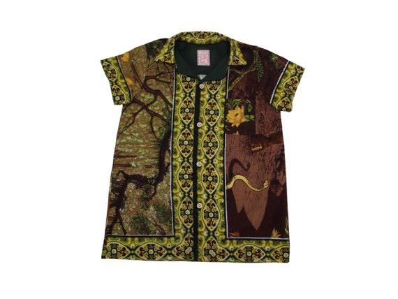 HAND MADE unicorn tapestry shirt
