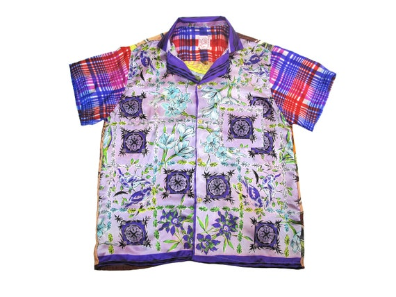 HAND MADE silk lounge shirt